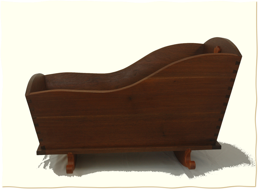peruvian walnut cradle